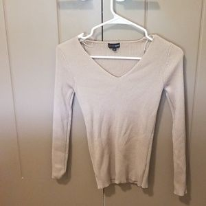 Tan ribbed sweater